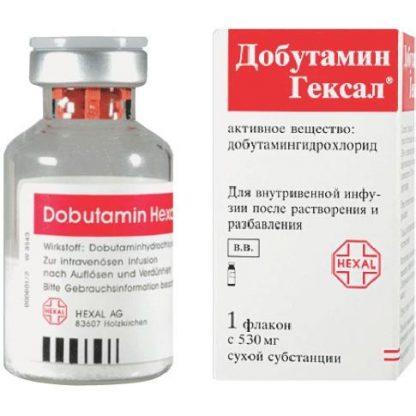 Добутамин Гексал лиофилизат д/приг.р-ра для инфузий флакон, 250 мг