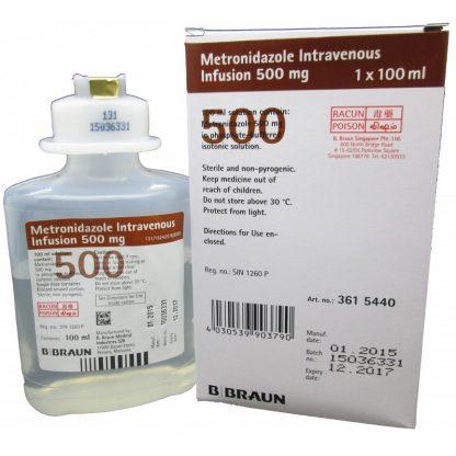 Метронидазол (BBRAUN) ББраун раствор, 500 мг/100 мл.