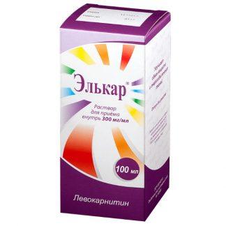 Элькар р-р для приема внутрь 300 мг/мл флакон, 100 мл.